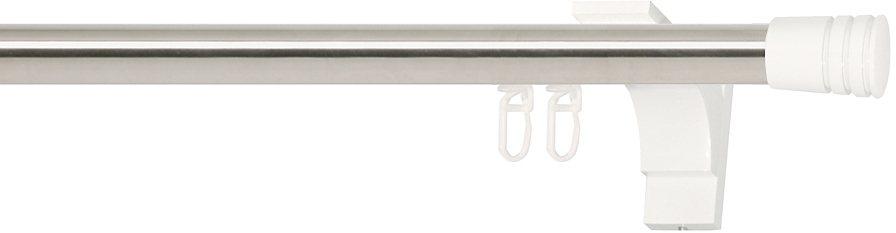 Gardinenstange, Indeko, »Verus«, nach Maß, ø 20 mm in edelstahlfarben, weiss