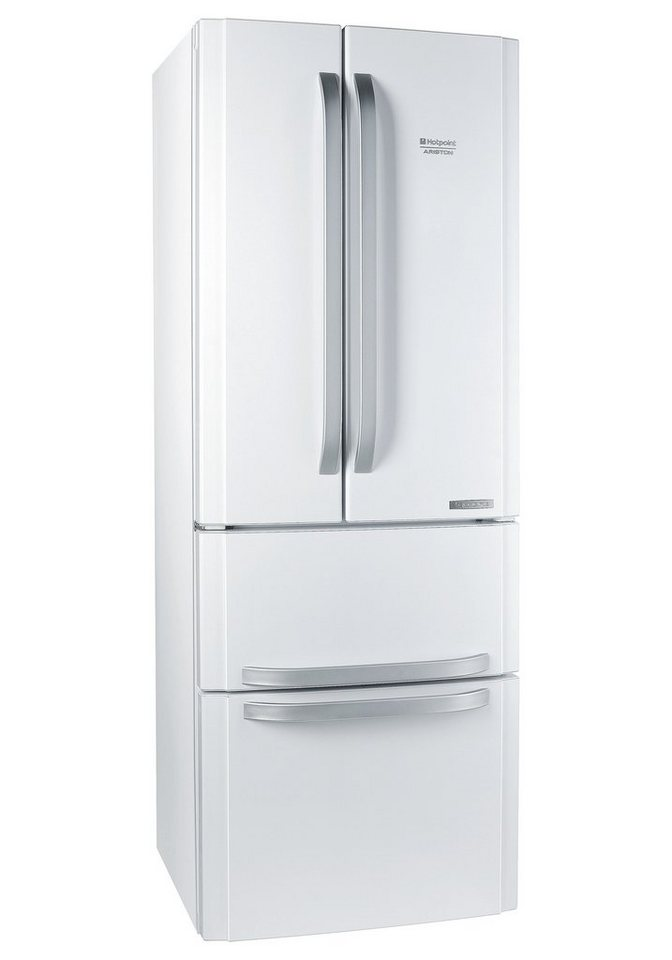 Hotpoint Frenchdoor E4D AA, A+, 195,5 cm hoch, NoFrost in weiß