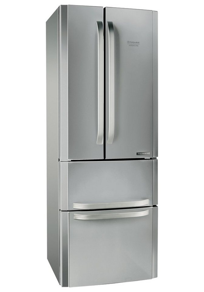 Hotpoint Frenchdoor E4D AA, A+, 195,5 cm hoch, NoFrost in edelstahl
