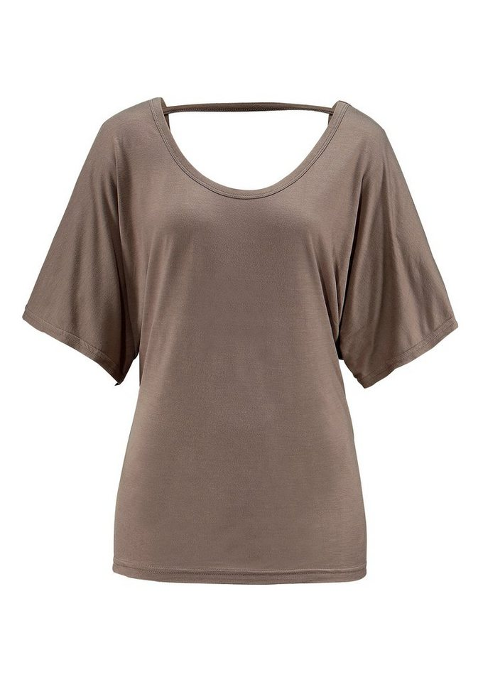LASCANA Shirt in taupe
