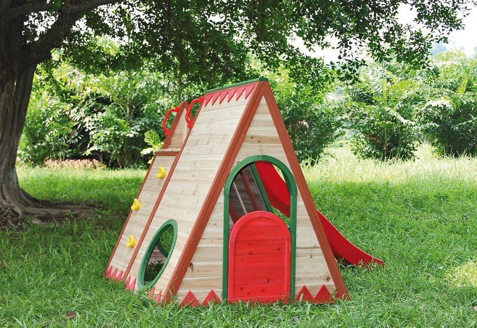 Dein Spielplatz Spielhaus »Indianerzelt mit Rutsche, chapawee« in natur