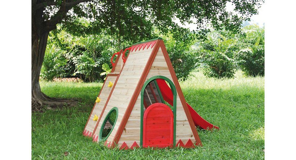 Dein Spielplatz Spielhaus »Indianerzelt mit Rutsche, chapawee«