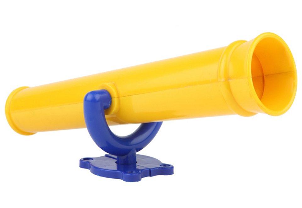 Dein Spielplatz Fernrohr für Spielhaus oder Kletterturm, gelb in gelb