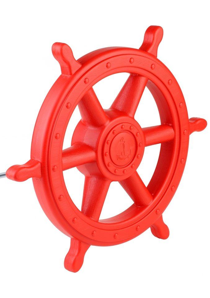 Dein Spielplatz Zubehör für Spielhaus oder Kletterturm »Steuerrad rot«. in rot