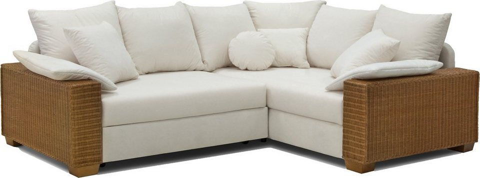Rattan Ecksofa Mit Bettfunktion
