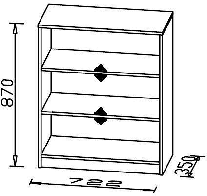 Schränke und Regale - Maja Möbel Aktenregal, Breite 72,2 cm, Höhe 87 cm  - Onlineshop OTTO