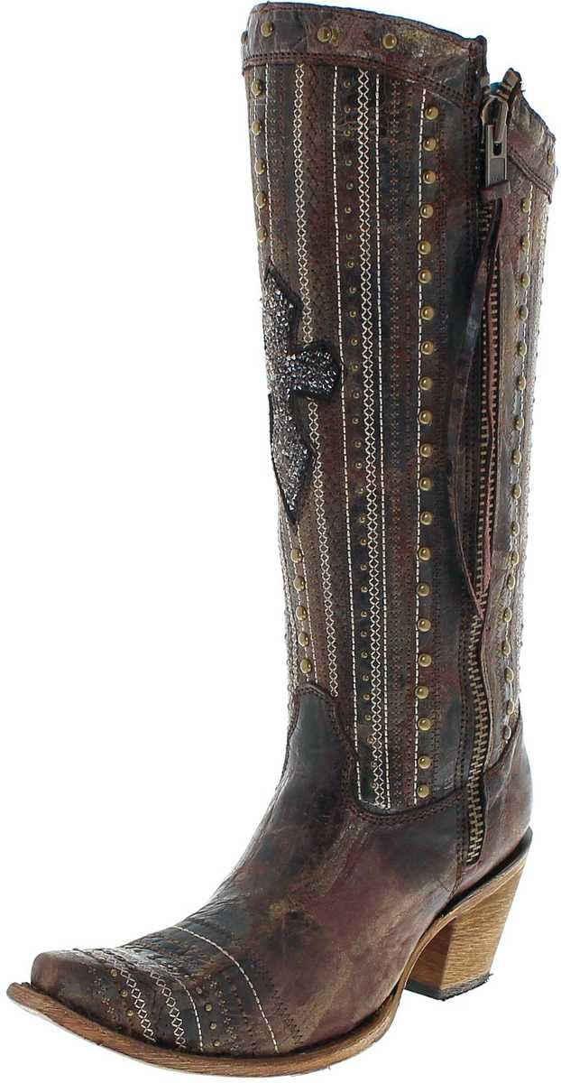 Corral Boots »C2925 Damen Westernstiefel Braun« Cowboystiefel Rahmengenäht