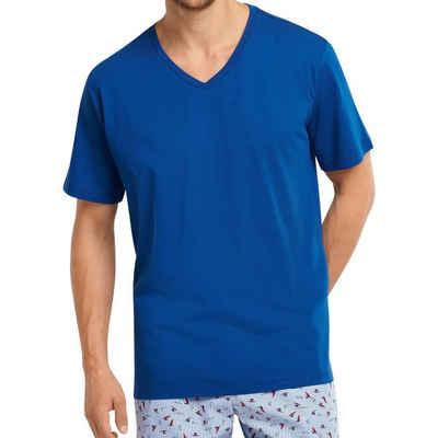 Schiesser Pyjamaoberteil »Mix & Relax Schlafanzug Shirt kurzarm« (1-tlg) Schlafanzüge zum selber mixen, Locker geschnitten, Angenehm auf der Haut