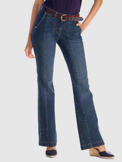 Laura Kent Bootcut-Jeans mit dekorativen Teilungsnähten