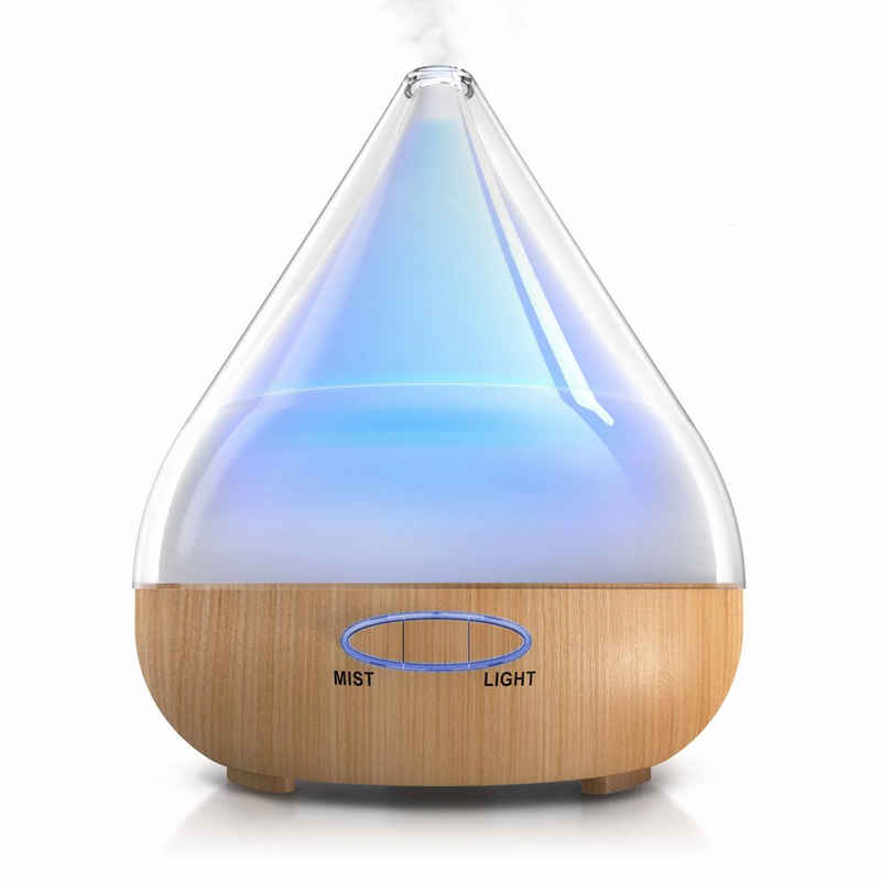 Arendo Diffuser, 380 l Wassertank, Aroma Diffuser mit LED Farbwechsel Diffusor mit 380 ml / LED mit 6 Farben