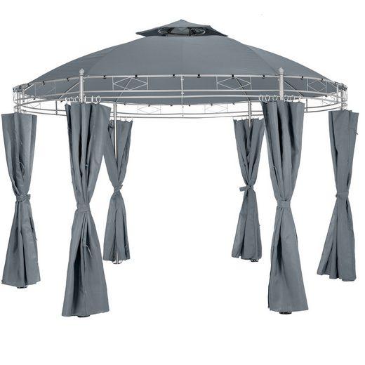 tectake Pavillon »Gartenpavillon Siana Ø 350 cm«
