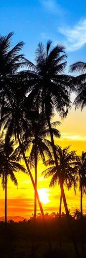 PAPERMOON Glas-Infrarotheizung »EcoHeat«, Motiv Coconut Palm Trees, 500 W, rahmenlos