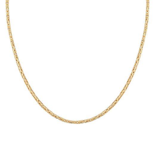CAÏ Königskette »Königskette 925 Silber vergoldet diamantiert«, Collier
