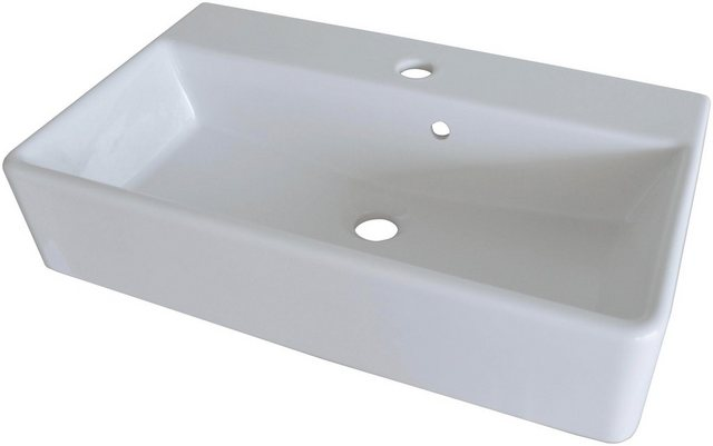 Fackelmann Waschbecken 60 cm ix! Weiß