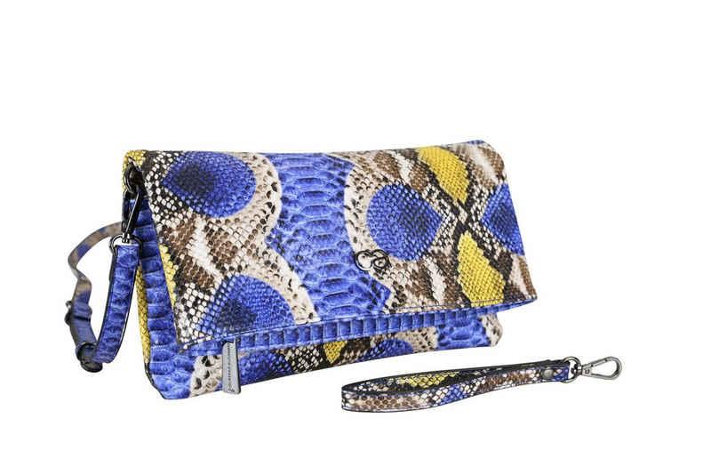 COLLEZIONE ALESSANDRO Clutch »Holi Snake«, als Clutch, Umhängetasche und Schultertasche tragbar