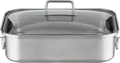 RÖSLE Bräter »EXPERTISO«, Edelstahl 18/10, (1-tlg), mit Glasdeckel, spülmaschinen- und induktionsgeeignet, Füllmenge 6,5 l