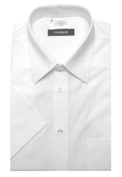 Huber Hemden Kurzarmhemd »HU-0150« Feiner Stoff, 100% Bio-Baumwolle, Nachhaltige Naturfaser, Klassischer Kentkragen, Regular Fit - bequeme Form, Made in EU