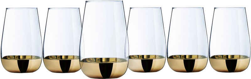 Leonique Longdrinkglas »Donella«, Glas, mit hochwertigem Golddekor, 6-teilig