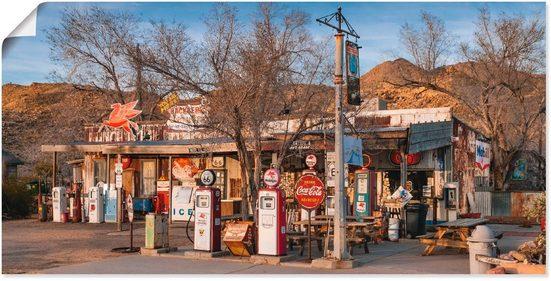 Artland Wandbild »Tankstelle an der Route 66 in Arizona«, Gebäude (1 Stück)