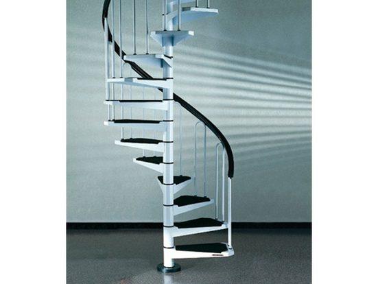 Spindeltreppe »AF26«, für Geschosshöhen bis 282 cm, Stufen offen, Ø: 130 cm