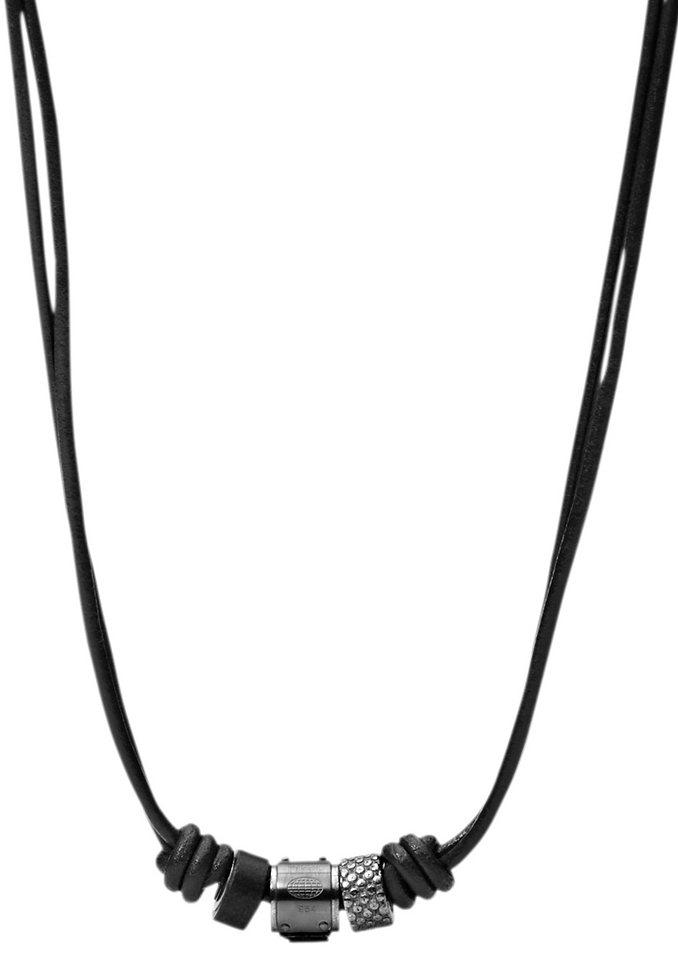 Kette, Fossil, »JF00501« in schwarz