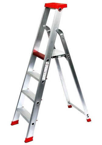 SZ METALL Stehleiter Aluminium 3 m 4-stufig