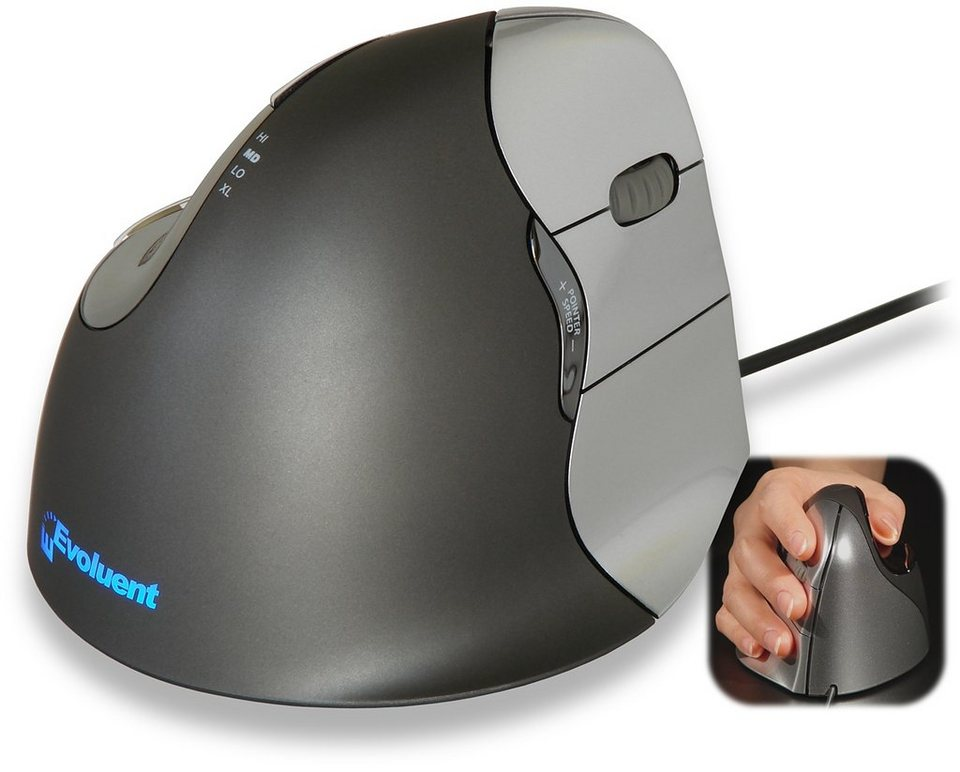 EVOLUENT Peripherie-Gerät »Vertical Mouse 4 Rechte Hand Klein«