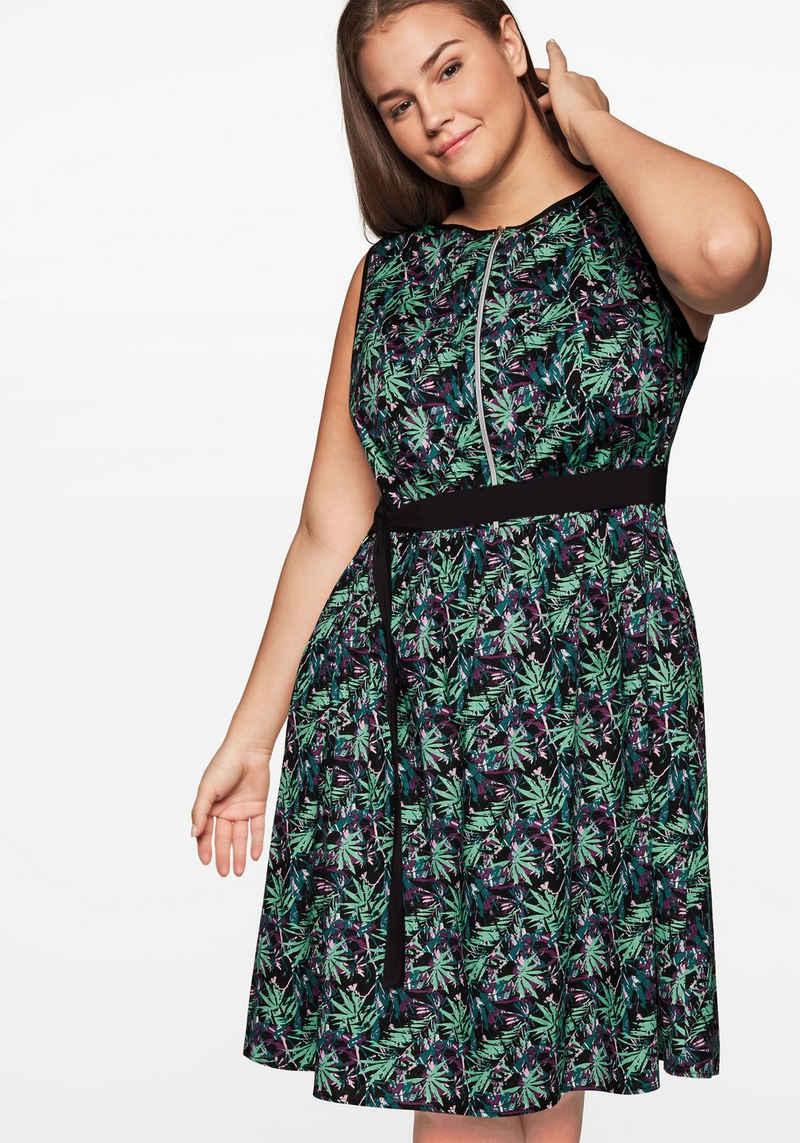 Sheego Sommerkleid mit floralem Alloverdruck