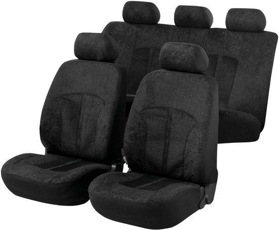 WALSER Set: Autositzbezug »ZIPP IT Premium Velvet«, mit Reißverschluss-System