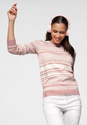 KangaROOS Rundhalspullover mit minimalistischer Rollkante und modischen Streifen-Design - NEUE KOLLEKTION