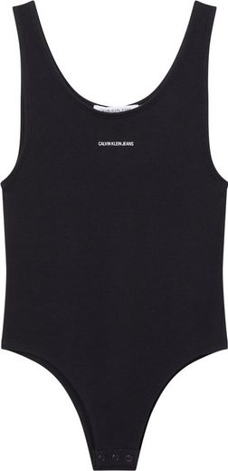 Calvin Klein Jeans Body »MICRO BRANDING RIB BODY« mit Druckknöpfen & Calvin Klein Jeans Micro Logo-Schriftzug