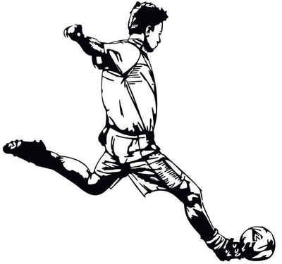 Wall-Art Wandtattoo »Fußball Aufkleber Kicker 03« (1 Stück)