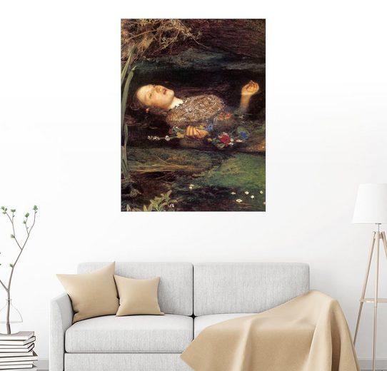 Posterlounge Wandbild, Ophelia, Detail