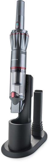 Genius Akku-Handstaubsauger Invictus One, 90 Watt, beutellos, Quick-Clean-Funktion, anthrazit mit roten Akzenten