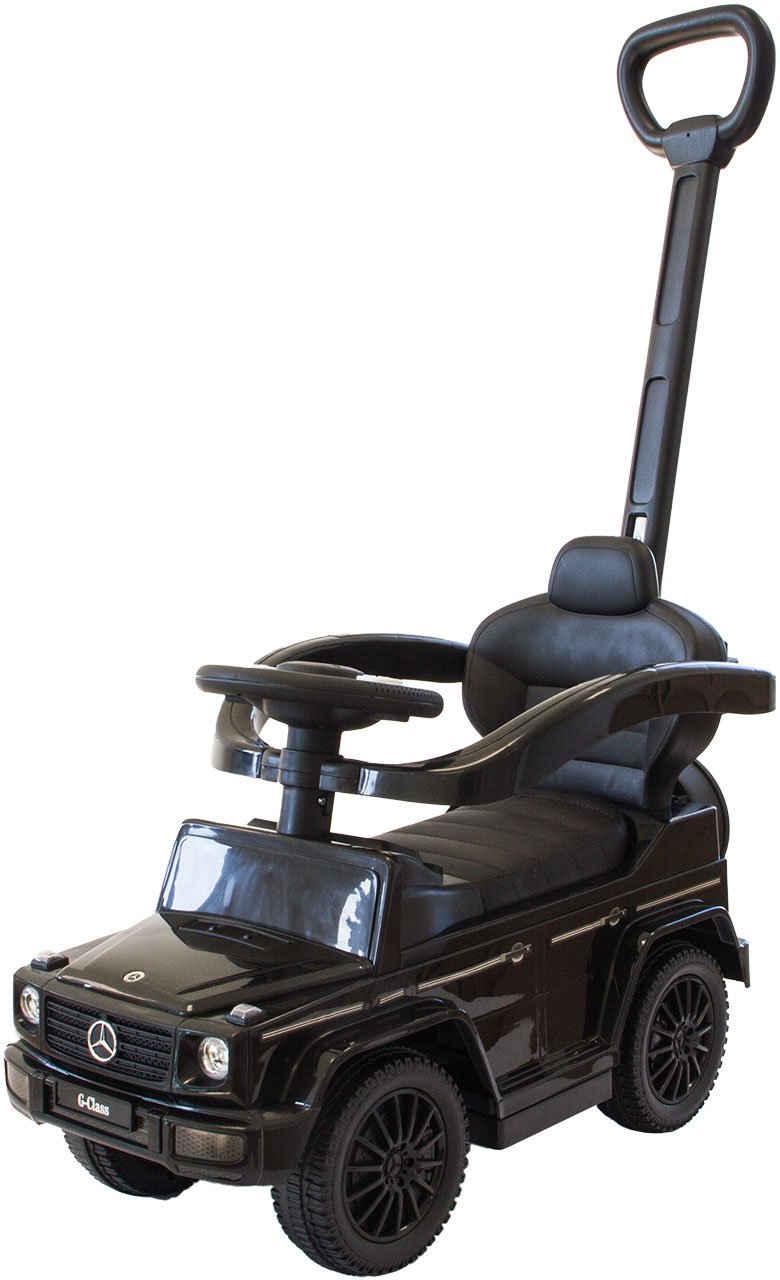 NATIV Spielzeug Rutscher »Babyrutscher Mercedes G350d mit Schiebestange«, leise laufende Kunststoffräder, Sound-Lenkrad