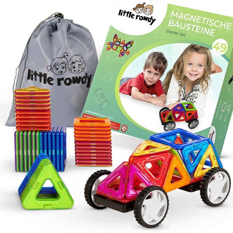 little rowdy Magnetspielbausteine »Starter Set«, (magnetische Bausteine, 49 St., Magnetspielzeug ab 3 Jahre für Jungen und Mädchen - perfektes Geschenk für Kinder)
