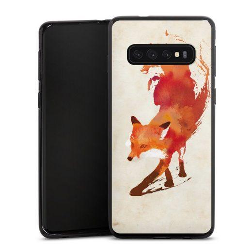 DeinDesign Handyhülle »Vulpes Vulpes« Samsung Galaxy S10 Plus, Hülle Fuchs Graphic