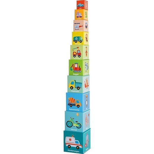 myToys Stapelspielzeug »Stapelturm Fahrzeuge, 10-teilig«