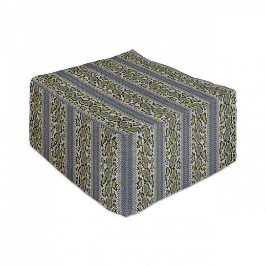 Abakuhaus Pouf »Unter Tisch Fußhocker für Wohnzimmer Büro Ottomane mit Abdeckung«, Snakeskin drucken Vivid Kontrast Kunst