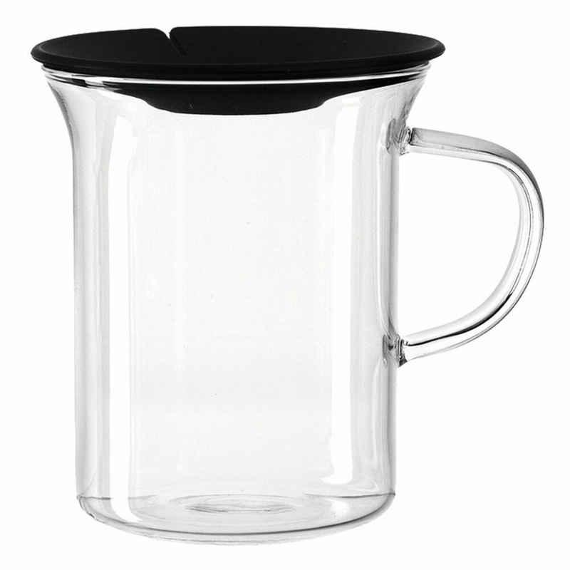 montana-Glas Tasse »:clever mit Teebeutelpresse 330 ml«, Glas