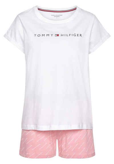 Tommy Hilfiger Shorty mit Logodruck an T-Shirt und Elastikbund