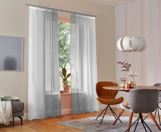 Gardine »Valverde«, my home, Kräuselband (2 Stück), Vorhang, Fertiggardine, transparent