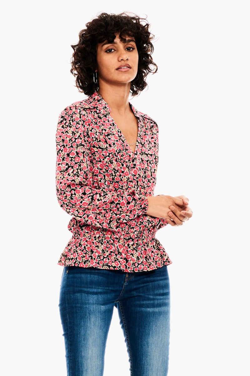 Garcia Klassische Bluse »B10034 - 2628-fiery pink« mit allover Blumenprint