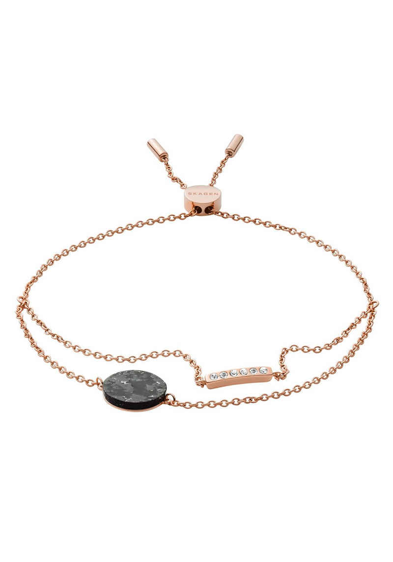 Skagen Armband »ELLEN, SKJ1378791«, mit Glassteinen und Marmor