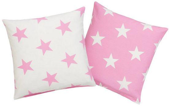 Kissenhüllen »Stella«, Lüttenhütt (2 Stück), mit niedlichen Sternen