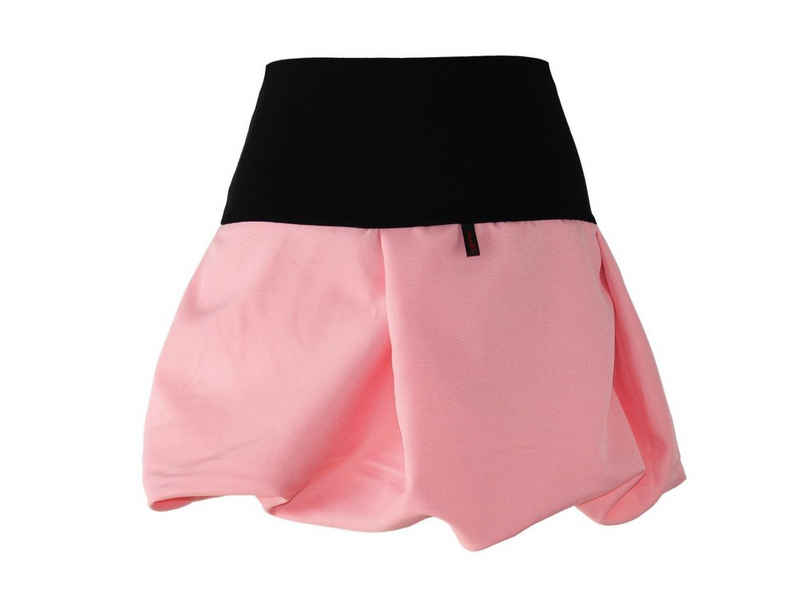 dunkle design Minirock »Ballonrock Rot Rosa Koralle Lachs Mini« elastischer Bund