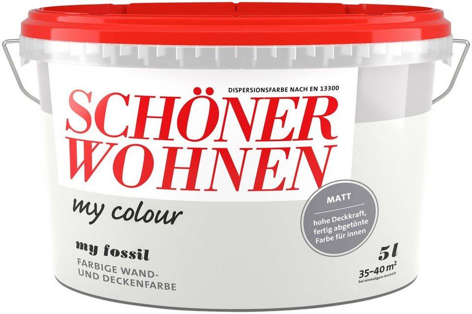 Schoner Wohnen Farbe Wand Und Deckenfarbe My Colour My Fossil Matt 5 L Online Kaufen Otto
