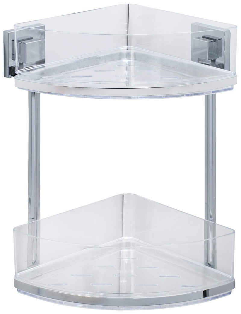 WENKO Eckregal »Vacuum-Loc Quadro«, 2 Etagen, Befestigen ohne bohren