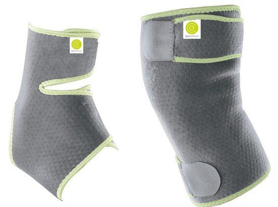 ecowellness Bandage »Knie und Sprunggelenk Bandage flexibel mit Klettverschluss Unisex Damen Herren« (Spar-Paket, 2teilig), Neopren mit Frottee-Fütterung