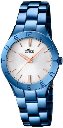 Lotus Quarzuhr »UL18249/1 Lotus Damen Uhr Fashion L18249/1«, (Analoguhr), Damen Armbanduhr rund, Edelstahlarmband blau